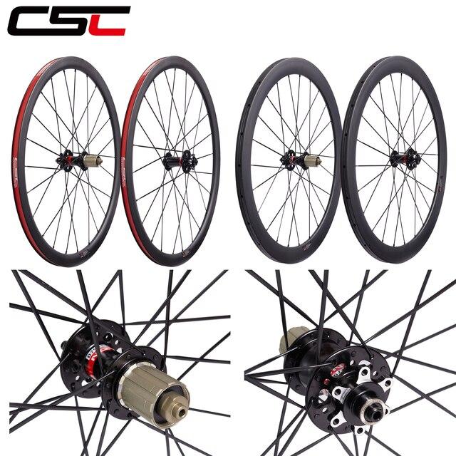 เบรคล้อCyclocrossล้อ 24mm 38mm 50mm 60mm 88mm Carbon Clincherท่อคาร์บอนจักรยานแผ่นดิสก์ล้อV Uรูปร่าง