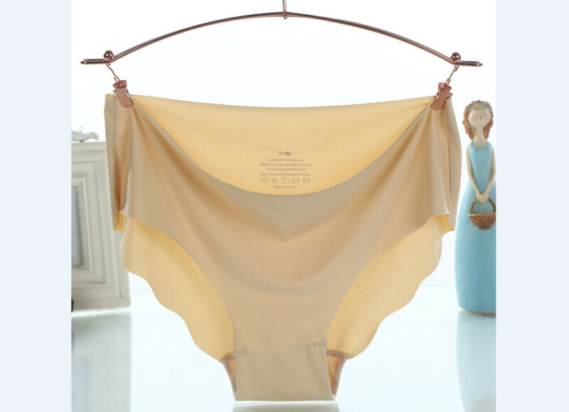 Sexy Female Ice Touth Feeling Panties Seamless Soft Lingerie Brief Hipster Modal Underwear Underpants Quick Drying Briefs