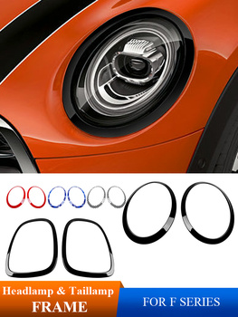 Car Headlight Decoration Frame Rear Light Sticker Car Styling For BMW MINI Cooper one+ S Clubman Coutryman F54 F55 F56 F60 Jcw engine cover trunk cover line car stickers and decals car styling for mini cooper clubman f55 f56 sticker decoration accessories