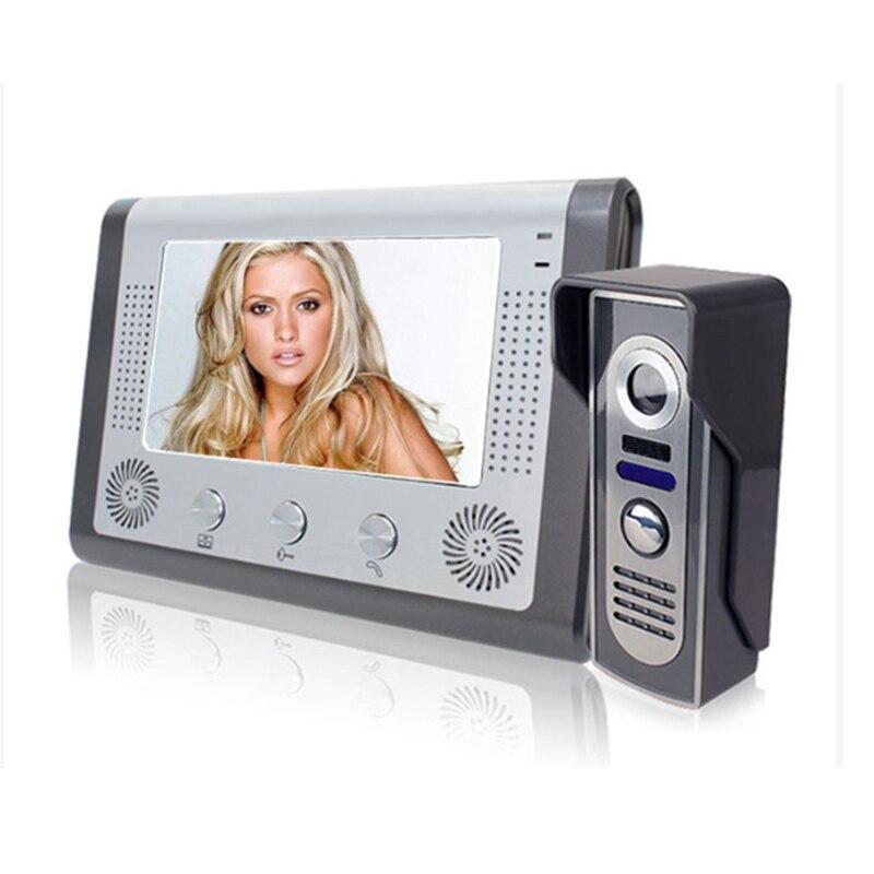 ₧Top SaleVideo Doorbell Monitor Phone-Intercom Wired-System Alloy-Camera Night-Vision 7 7-Aluminium╧