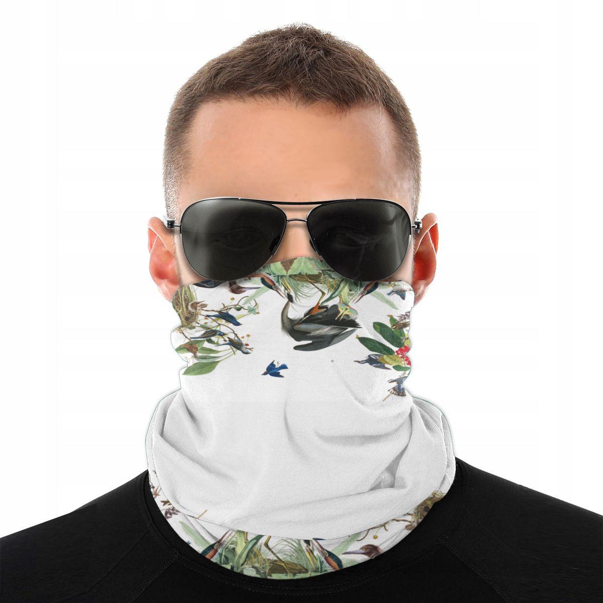 Audubon Herons Loon Bluebird Birds Scarves Neck Face Mask Neck Gaiter Wildlife Balaclava Bandana Polyester Headwear Outdoor Hike