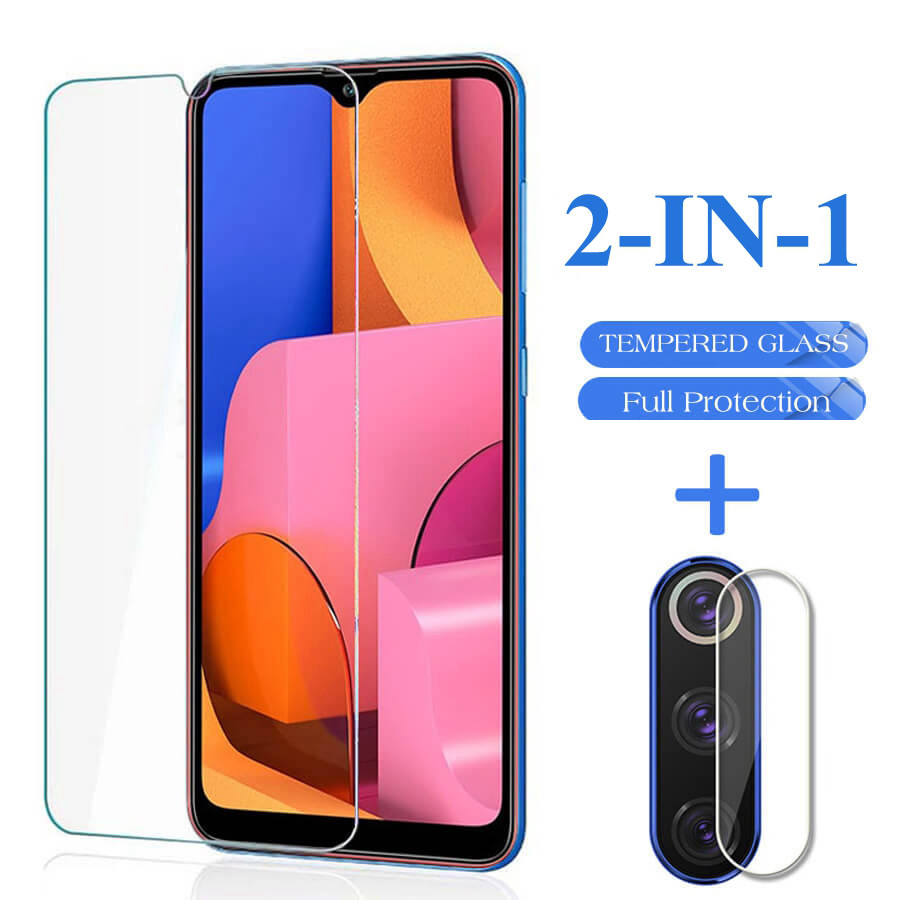 2in1 Tempered Glass For Samsung A20S A207F A50 A30S A51  A30 M21  A71 A10 A40 Screen Protector Camera Lens Film On A 20s 50 Glas