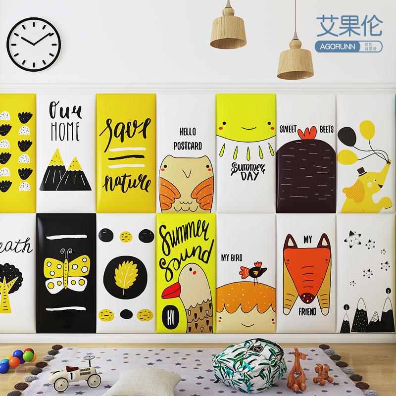 Anti-collision Bed Soft Bag Tatami Headboard Wall Surrounding Baby Anti-collision Wall Stickers Kindergarten Soft Bag Stickers