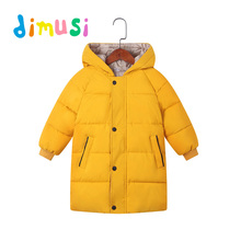 DIMUSI Winter Boys Jackets Child Kids Thick Warm Parkas Hooded Coats Ba