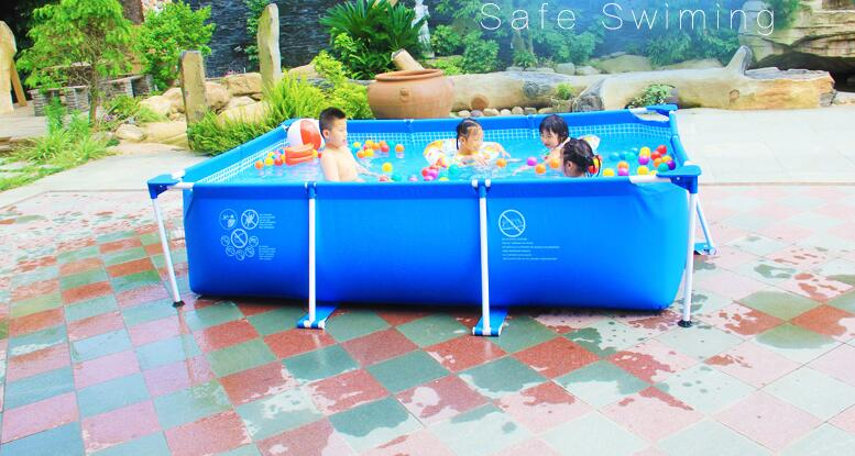 Optional Sizes Rectangular Frame Swimming Pool For Sale Easy Set-up And Removable Pool For Outdoor