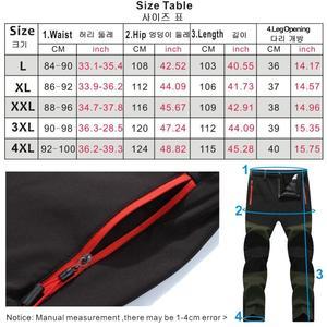 Image 5 - Painel frontal calça esportiva masculina, para trilha e acampamento, à prova d água, para inverno, para caça e pesca