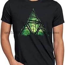 Nature Triforce T-Shirt Homme  Hyrule Gamer Black