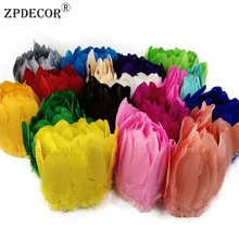 15-20 cm Goose Feather Trims 1 Yard/Lot Big Floating Colourful Swan Feather Plume for Craft Wedding Jewelry(China)