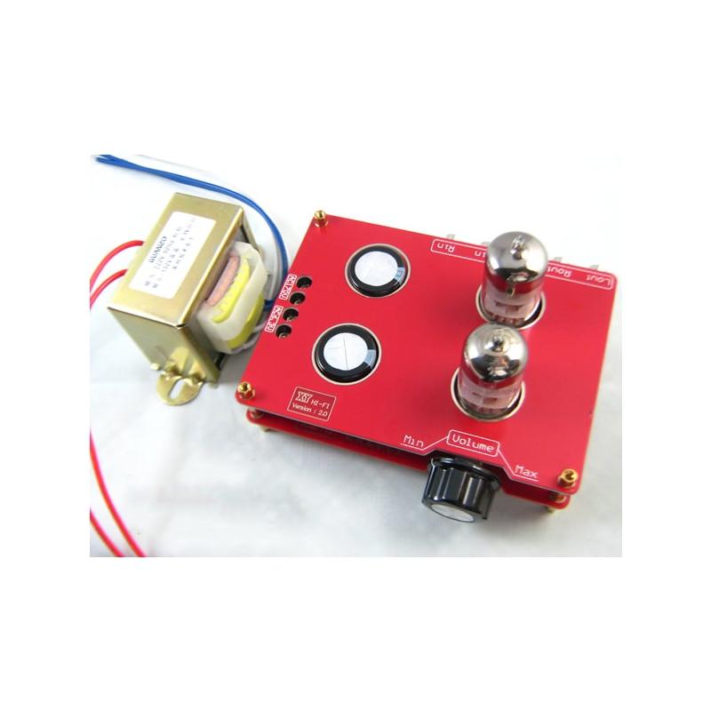 240*90*115mm carte amplificateur 110V 220V 6N3 6H3N Bile préampli HIFI Tube fièvre Bile préampli amplificateur avec transformateur