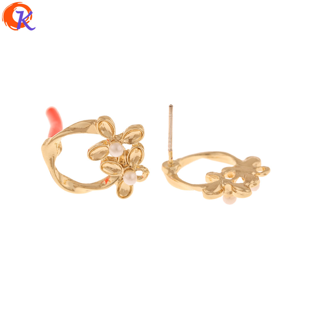 Cordial Design 50Pcs 16*18MM Jewelry Accessories/Hand Made/Earrings Stud/Imitation Pearl/DIY Jewely Making/Earring Findings