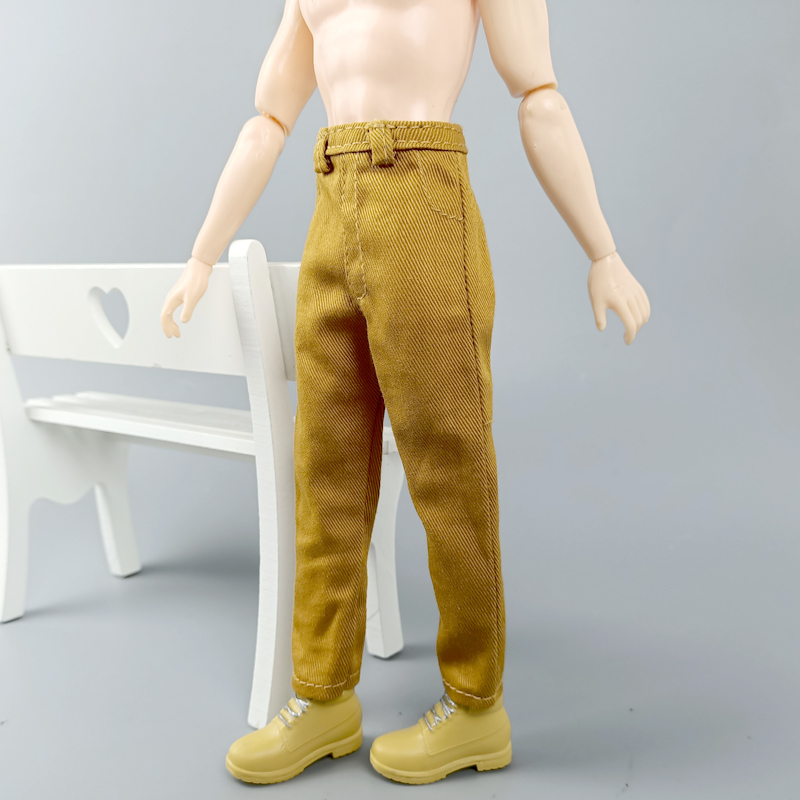 """For 18/"""" Doll Clothes Hip Hop Handmade Denim Pants For Ken Doll Trousers"""