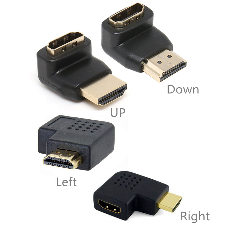 HD 1080P Male to Female HDMI-compatible Adapter Converter 90 / 270 Degrees Angle Turn Right / Left 180 360 Degree Rotating HDTV