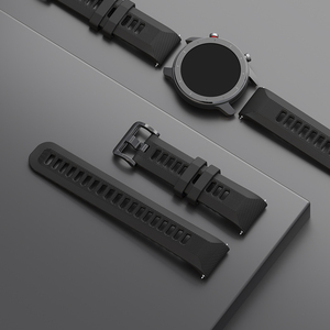 Image 2 - Correa de reloj Original para Xiaomi Huami Amazfit GTR, correa de silicona de 20mm y 22mm de ancho, 42mm y 47mm, Pace Stratos GTS Bip Lite