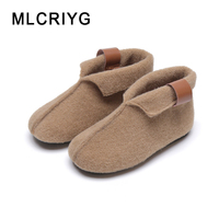 Autumn New Baby Girls Princess Shoes Children Slip On Ankle Shoes Baby Girls Brand Gray Flats Sweet Soft Shoes Fashion Soft Shoe