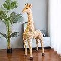 Гигантский реалистичный Жираф 35-120 см, плюшевые игрушки, высококачественные мягкие куклы-животные, мягкие куклы для детей, Детский подарок н...
