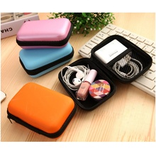 Portable Case for Headphones Case Mini Zippered Round Storage Hard Bag Headset Box for Earphone Case SD TF Cards Zipper Bag original kz earphone case fiber zipper headphones hard case storage carrying pouch bag sd card box portable earphone bag