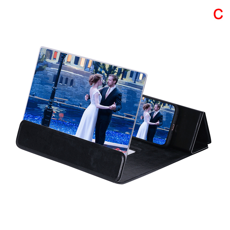 12 Inch 3D Screen Magnifier Cell Phone Foldable Screen Enlarger Video Movie Amplifier Holder Stand New Arrival