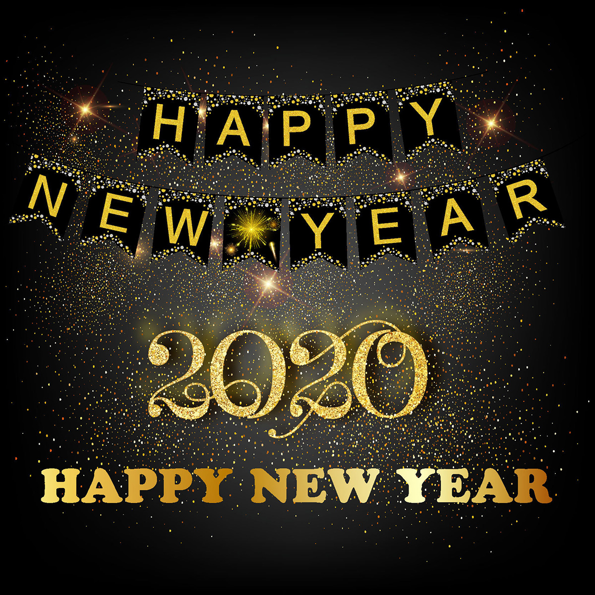 2019 New Year's Eve Party Banner Home Party Decoration New Year Theme Party Festival Vibe Happy New Year Banner