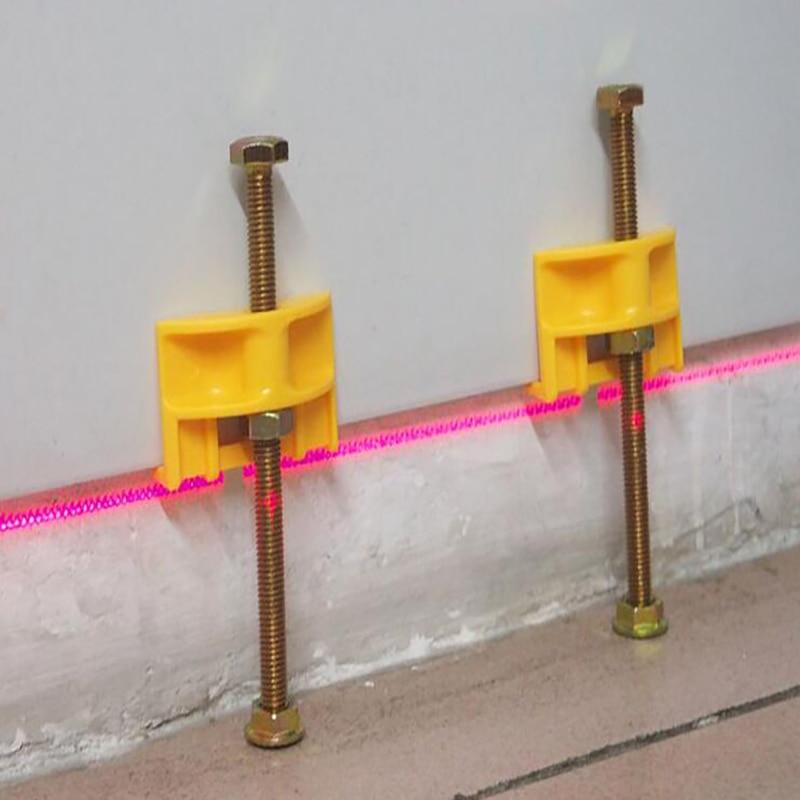 10Pcs Manual Tile Locator Wall Regulator Height Ceramic Fine Thread Rising Tile Leveler Adjustment Construction Tool