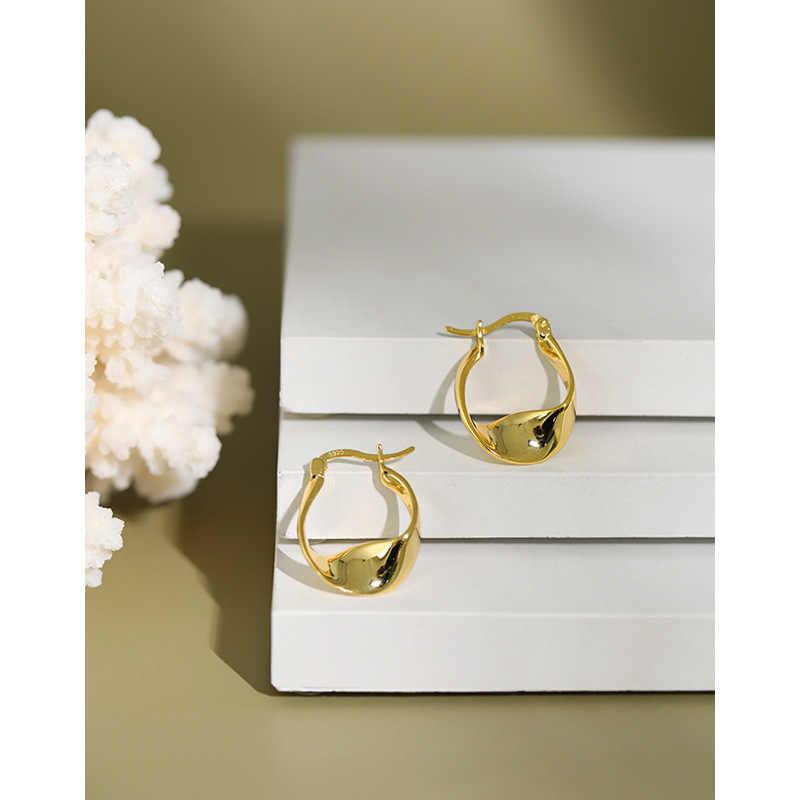 Pendientes De aro torcidos De oro 2020, aros De Plata De Ley 925 para Mujer, Pendientes De Plata De Ley 925, joyería minimalista para Mujer