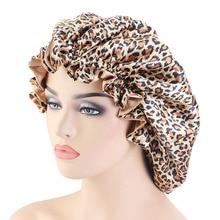 Large satin Double-sided bonnet sleep cap Silky Night Cap for women