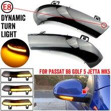 2 pces para vw golf 5 gti v mk5 jetta passat b5.5 b6 sharan excelente eos dinâmico led turn signal luz lateral asa espelho indicador