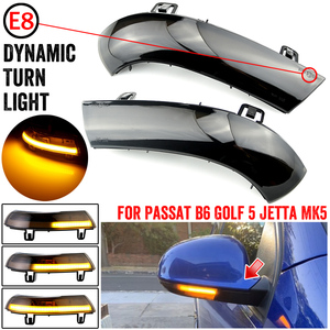 2pcs For VW GOLF 5 GTI V MK5 Jetta Passat B5.5 B6 Sharan Superb EOS Dynamic LED Turn Signal Light Side Wing Mirror Indicator