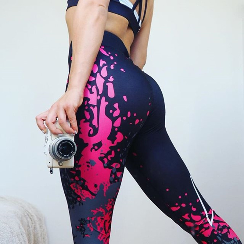 Sport Leggings Women Yoga Pants Workout Fitness Clothing Jogging Running Pants Gym Tights Stretch Print Sportswear Yoga Leggins 1