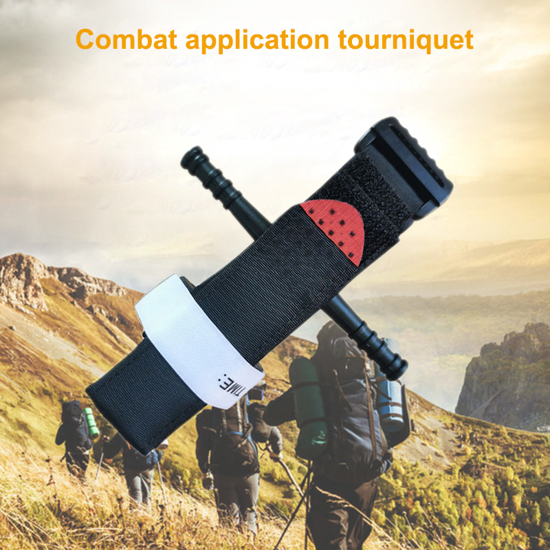 Stanch Bleed Stop First Aid Quick Slow Release Buckle With Rod Record Time Outdoor Portable Medical Emergency SOS Tourniquet