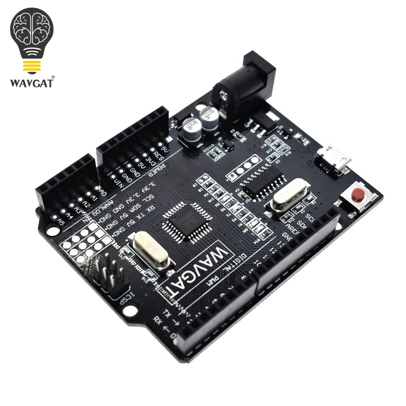 WAVGAT для Arduino UNO R3 макетная плата высокого качества UNO R3 CH340G для ATMEGA328P 16 МГц ATMEGA328P AU Интегральные схемы      АлиЭкспресс