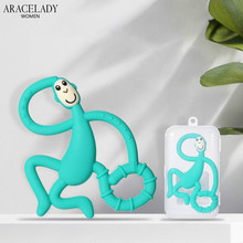 Safe Baby Teether Toys Toddle Monkey Teething Ring Silicone Chew Dental Care Too