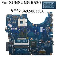 KoCoQin Laptop motherboard For SUNSUNG NP R530 R530 Mainboard BA41 01223A BA92 06336A GM45