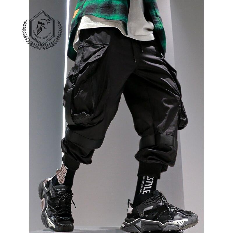 Golomise Men Fashion Ankle-Length Safari Style Loose Jogger Pants Casual Hip Hop Pants