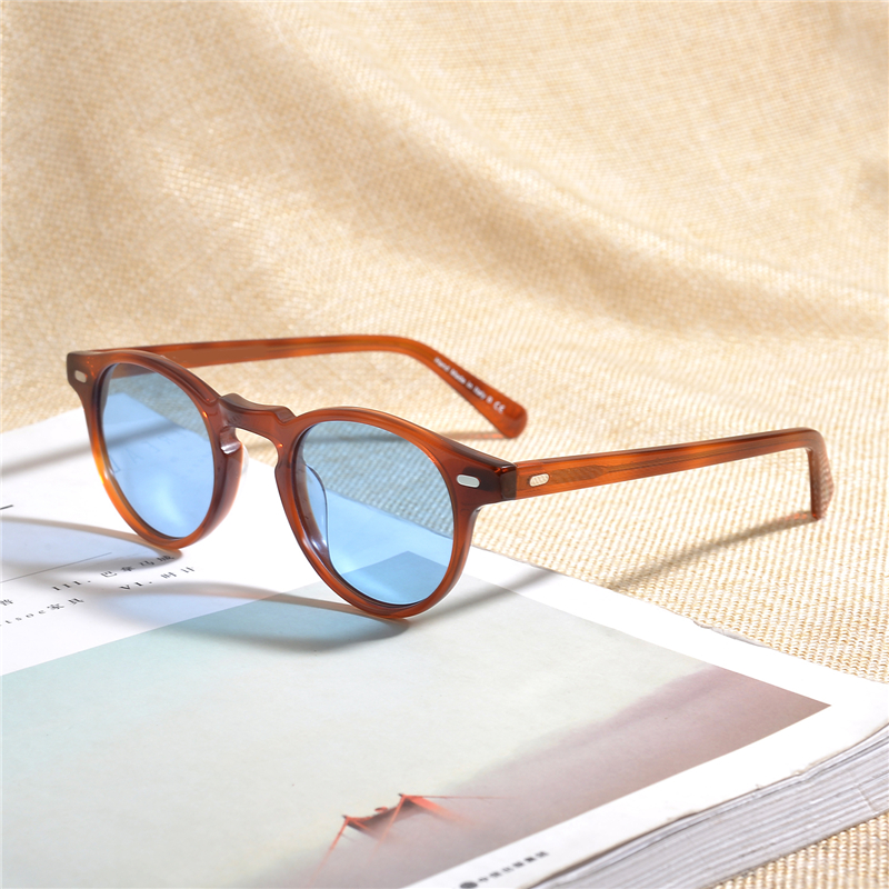 Oliver Gregory Peck Brand Designer men women Sunglass Vintage Polarized sunglasses Famous brand OV5186 retro Sun glasses oculos