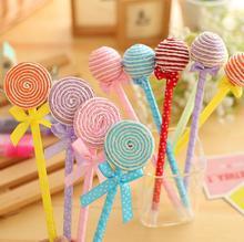 6pcs/lot New lovely Lollipop series ball point pen colorful Cartoon pens canetas escolar school supplies stationery