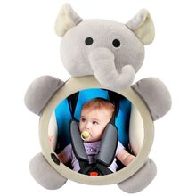Toy Mirrors Rearview Baby Plush Safety-Seat Car-Interior Infants Kids Cartoon