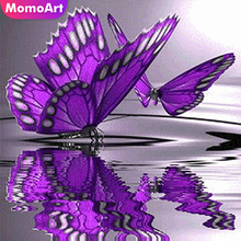 MomoArt Diamond Painting Butterfly Mosaic Full Square Picture Of Rhinestone Embroidery Animal Cross Stitch