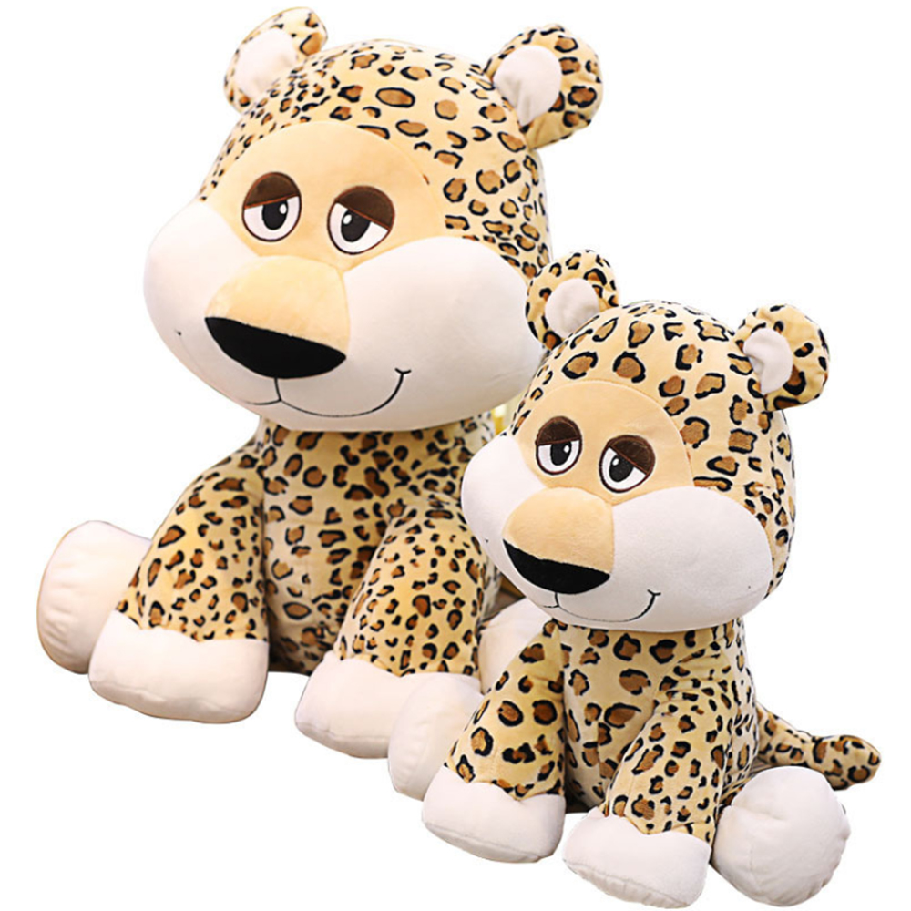 35cm 50cm Kids Plush Toy Cartoon Simulation Leopard Doll PP Cotton Stuffed Simulation Animal Classic Toys For Children Gift new