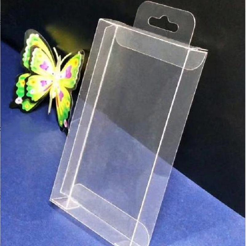 With Hook Gift plastic Box Square PVC Mobile / Prize / Toy Packaging Gift Boxes Exhibition Favor Party Event Decoration