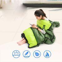 Outdoor Camping Sleeping Bag Adult Envelope Type Lightweight Portable Splicing Fleabag Zipper Thermal Travel