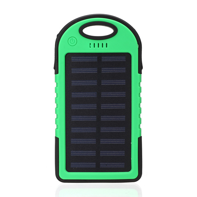Solar 20000mAh power bank Portable Solar Panel Dual USB Battery Pack Charger Charging LED Battery Charger For iphone5 6 7 8 X 5