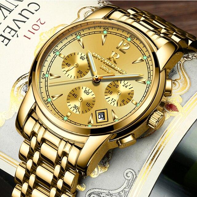 часы наручные мужские кварцевые многофункциональные брендовые фотография