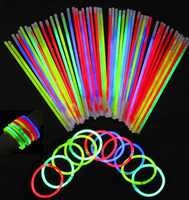 100 шт разноцветные светящиеся палочки, безопасный светильник, флуоресцентные палочки для мероприятий, праздничные вечерние принадлежности...