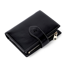 купить New Arrivals Genuine Leather Short Style Woman Zipper Purse For Ladies Large Capacity Women Wallet  Hot Brand Female Wallets по цене 1422.92 рублей
