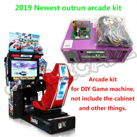outrun Coin Operated Video Arcade Machine Driving Simulator Car Racing Games arcade kit main board+cable+Dynamic card 110V/220V
