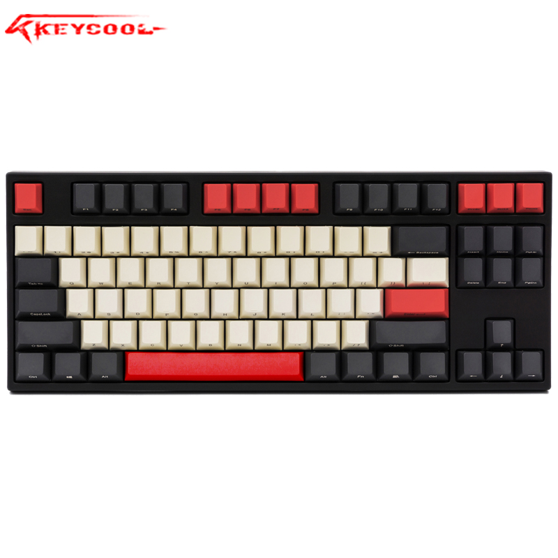 PBT Key Cap ANSI Side/Positive/Front Print Cherry MX Keycap Set For TKL 87/104/108/60% Gaming Keyboard Fit Anne Akko X Ducky