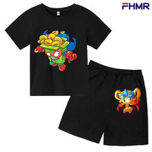 Super Song Printing Season Baby Cotton Short-sleeved Clothes + Shorts Baby Toddler Boy Suit Kids Children Boys