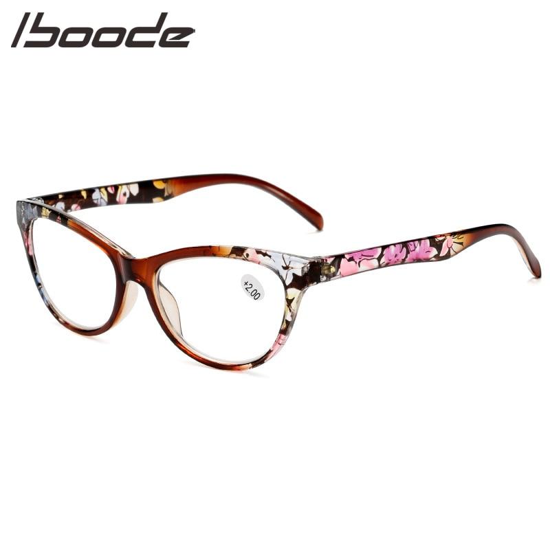 IBOODE Cat Eye Reading Glasses Women Men Presbyopic Eyeglasses Female Male Hyperopia Eyewear Unisex Optics Magnifying Spectacles