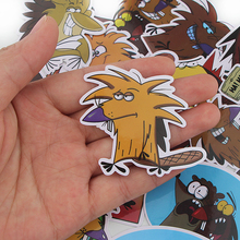 CA35 20pcs/set Angry Beaver Mixed Stickers Laptop Skateboard Luggage Car Styling Bicycle Graffiti Decals Waterproof