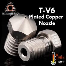 Trianglelab T V6 도금 구리 노즐 3d 프린터 용 내구성 비 스틱 고성능 e3d v6 hotend 용 hotend m6 나사